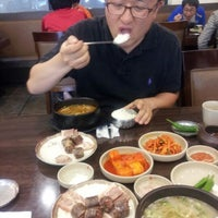 Photo taken at 평안도찹쌀순대전문점 by Francis B. on 5/12/2012