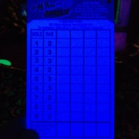 Photo taken at Oceans 18 Glow in the Dark Mini Golf by Oceans 18 on 8/30/2012