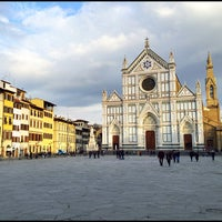 Photo taken at Piazza Santa Croce by Stefano P. on 2/18/2012