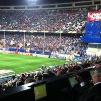 Photo taken at Estadio Vicente Calderón by Gustavo L. on 3/29/2012