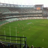 Photo taken at Melbourne Cricket Ground (MCG) by Kate T. on 6/17/2012