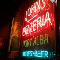Photo taken at John's of Bleecker Street by Rick V. on 2/17/2012