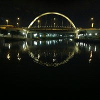 Photo taken at Bridge @ Punggol Walk by Rick on 3/30/2012