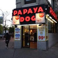 Photo taken at Papaya Dog by Armeni K. on 4/27/2012