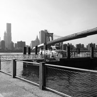 Photo taken at Under The Brooklyn Bridge by Christine D. on 7/26/2012