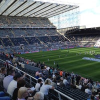 Photo taken at St James' Park by Steve M. on 8/18/2012