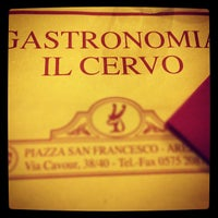 Photo taken at Gastronomia Il Cervo by Stella N. on 4/21/2012