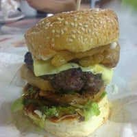 Photo taken at Burger Bakar Abang Burn by Jalak L. on 8/14/2012