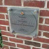 Photo taken at Garden of Reflection and Remembrance - University of Maryland by Richard M. on 8/25/2012