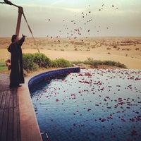 Photo taken at Al Maha Desert Resort & Spa by David M. on 5/10/2012