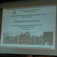Photo taken at Ruang Pola DPU DKI Jakarta by Adin D. on 6/28/2012