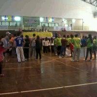Photo taken at สนามกีฬากลางจังหวัดมุกดาหาร by NujenRtfNgo Z. on 5/1/2012