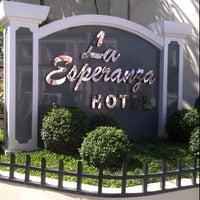 Photo taken at La Esperanza Hotel by Stefanie A. on 4/6/2012