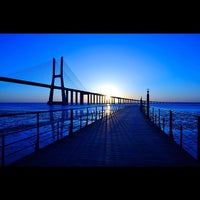 Photo taken at Ponte Vasco da Gama by Luis L. on 3/9/2012