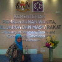 Photo taken at Kementerian Pembangunan Wanita, Keluarga dan Masyarakat (KPWKM) by Nurul Hidayah H. on 6/28/2012