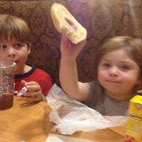 Photo taken at Bruegger's Bagels by Marie C. on 7/20/2012