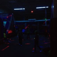 Photo taken at Bounce U by Thomas S. on 2/4/2012