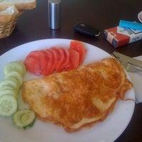 Photo taken at Teras Cafe (Beyaz Kale) by Akin K. on 9/4/2012