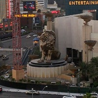 Photo taken at MGM Grand Lion Statue by Lisbel R. on 6/17/2012