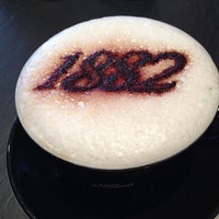 Photo taken at Cafe Vergnano 1882 by Hossam H. on 5/24/2013