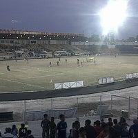 Photo taken at Stadion Kaharudin Nasution by Melki P. on 1/12/2013