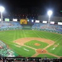 Photo taken at Sajik Baseball Stadium by SuYoung J. on 5/14/2013