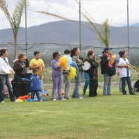 Photo taken at Canchas Futbol Hda. Dolores by Noe P. on 2/27/2014