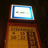 Photo taken at Štěpánská (tram) by Bogo S. on 3/1/2013