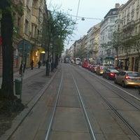 Photo taken at Štěpánská (tram) by Bogo S. on 11/22/2013