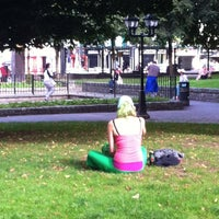 Photo taken at Bishop Lucey Park (The Peace Park) by URSZULA on 8/19/2013