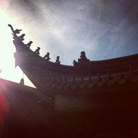 Photo taken at 奉化雪窦寺 by Teddy Z. on 4/2/2013