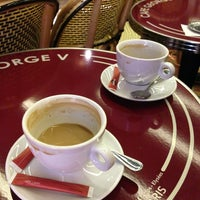 Photo taken at Café George V by Youngbong S. on 3/16/2013