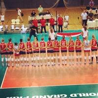 Photo taken at Sportska dvorana Žatika by Tribunus P. on 8/3/2014