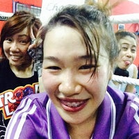 Photo taken at Nikhom Muay Thai Virapol GYM by Jeepy P. on 4/3/2014