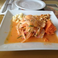 Photo taken at Mancora Restaurant Cebicheria by Evelyn W. on 1/6/2013