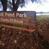 Photo taken at Salt Pond Beach Park by Taylor O. on 12/30/2012