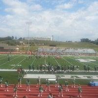 Photo taken at Pattonville Football Field by Juan P. on 10/12/2013