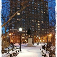 Photo taken at Abingdon Square Park by Carlos L. on 2/10/2013