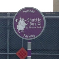 Sign for the Pumbaa Parking Shuttle Bus