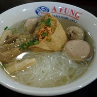 Photo taken at Bakso Afung by Yani R. on 11/29/2013
