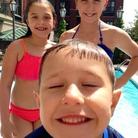Photo taken at Courtyard Pool by Dawn K. on 4/12/2014