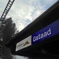 Photo taken at Bahnhof Gstaad by Nicolas B. on 3/29/2013