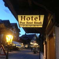 Photo taken at Restaurant Hotel Rössli by Nicolas B. on 8/23/2013