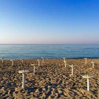 Photo taken at Spiaggia Rodos by Nicolas B. on 7/7/2015