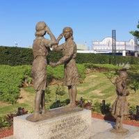 Photo taken at ガールスカウト世界連盟加盟記念像 by Rinorinon on 4/15/2016