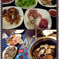 Photo taken at Blue Garden Korean BBQ Restaurant by Serlin L. on 3/16/2014