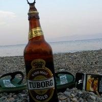 Photo taken at Sarıkız Sahil Plajı by Erkut Ş. on 8/16/2015
