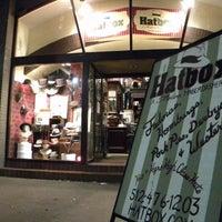 Photo taken at Hatbox: A Modern Haberdashery by Hatbox: A Modern Haberdashery on 3/5/2014