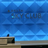 Photo taken at Delta Sky Club by Cynarah A. on 10/19/2012