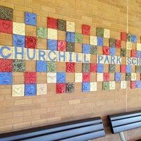 Photo taken at Churchill Park Elementary by Mera Kathryn on 3/28/2013